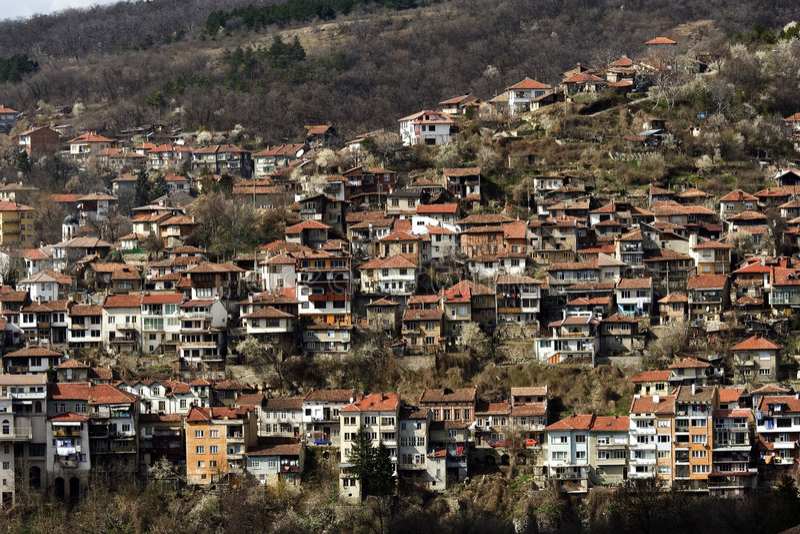 Vista de Veliko Tarnovo imagens de stock