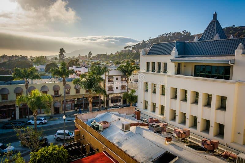 Vista de Ventura do centro, Califórnia fotografia de stock