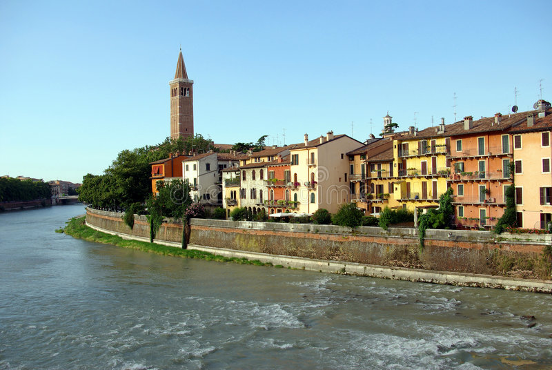 Vista de Verona, Italy imagens de stock