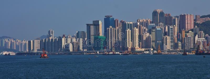 Vista de Victoria Harbour, Hong Kong imagem de stock royalty free