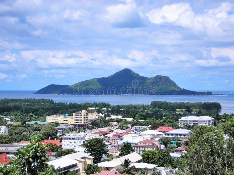 A vista de Victoria, Seychelles imagem de stock