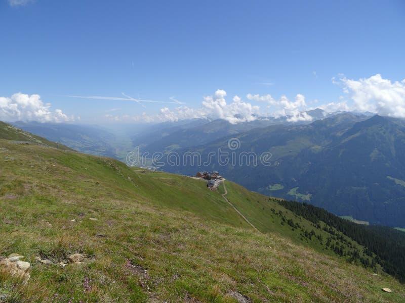 Vista de Wildkogel, Áustria imagem de stock