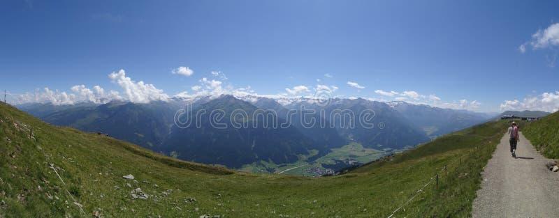 Vista de Wildkogel, Áustria imagem de stock royalty free