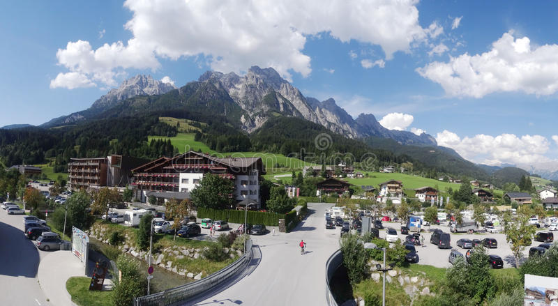 Vista de Wildkogel, Áustria fotografia de stock royalty free