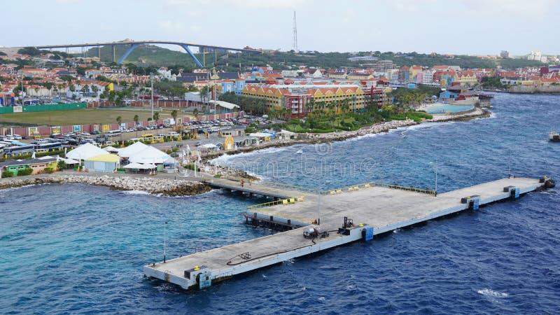 Vista de Willemstad, Curaçao fotos de archivo libres de regalías
