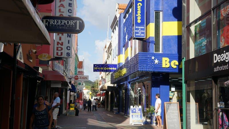 Vista de Willemstad, Curaçao foto de archivo libre de regalías