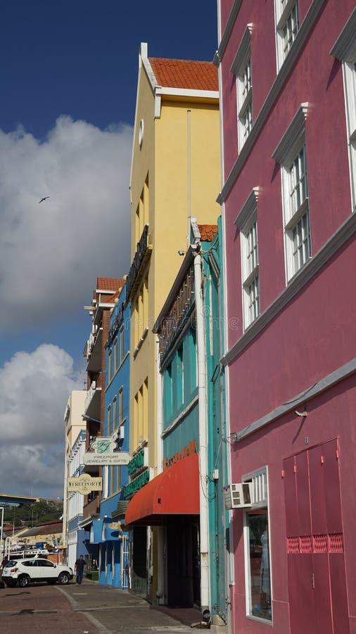 Vista de Willemstad, Curaçao imágenes de archivo libres de regalías