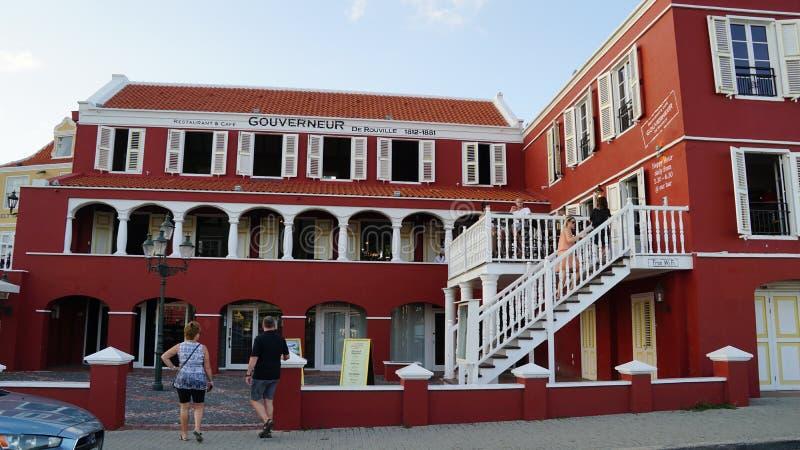 Vista de Willemstad, Curaçao imagen de archivo