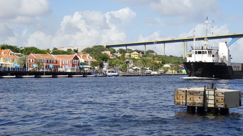 Vista de Willemstad, Curaçao imagen de archivo libre de regalías