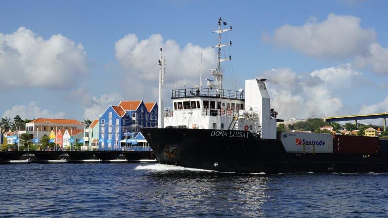 Vista de Willemstad, Curaçao imagenes de archivo