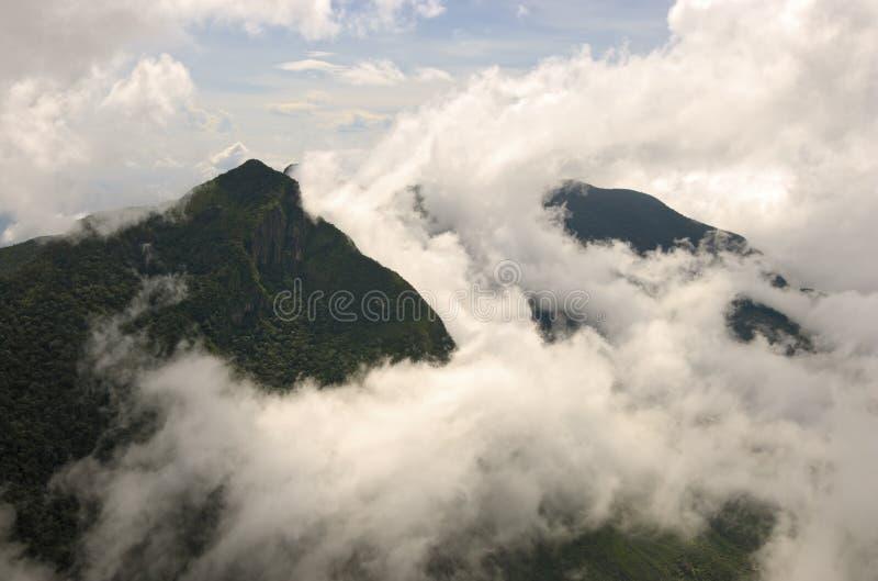 Vista de World& x27; a extremidade de s em Horton plains o parque nacional fotos de stock royalty free