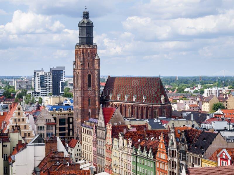 Vista de Wroclaw foto de archivo