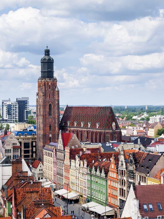 Vista de Wroclaw fotografía de archivo libre de regalías