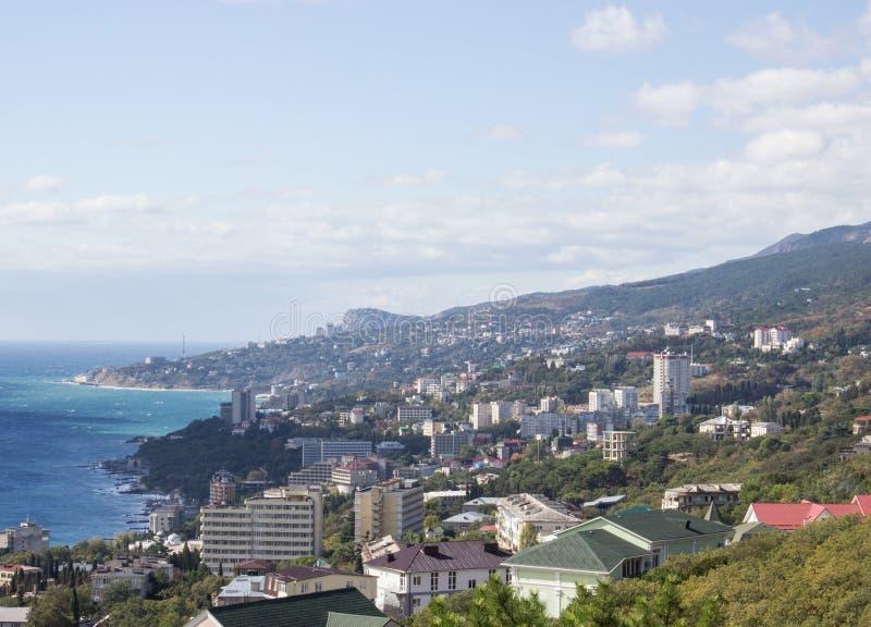 Vista de Yalta fotos de archivo libres de regalías