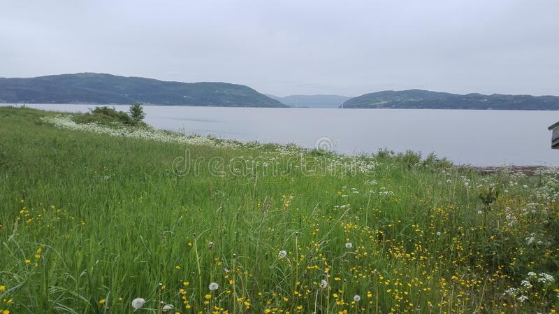Vista de Ytterøy foto de stock