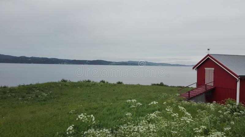 Vista de Ytterøy fotografia de stock