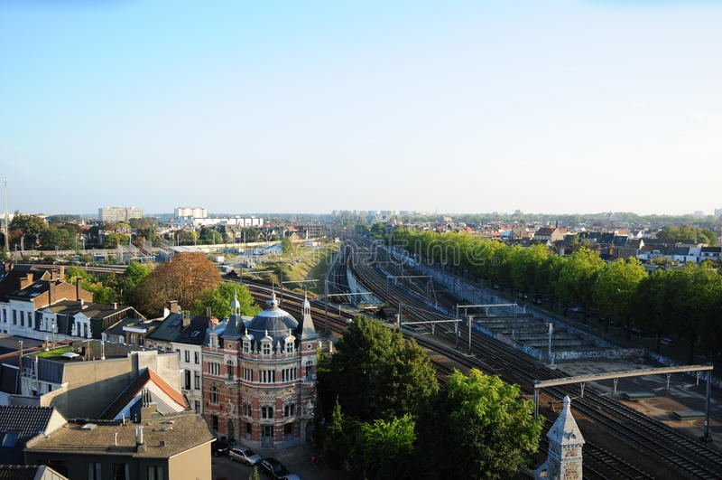 Vista de Zurenborg, Amberes fotos de archivo