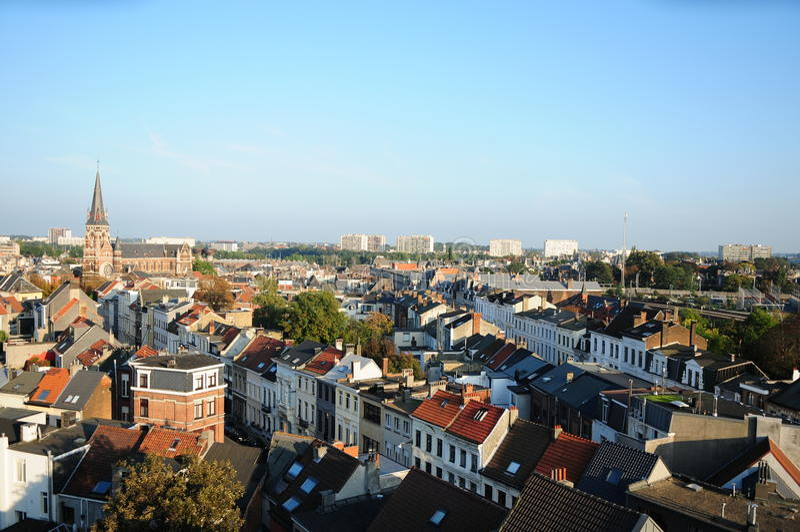 Vista de Zurenborg, Amberes foto de archivo