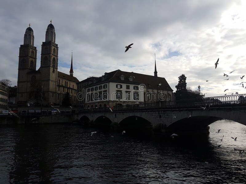 Vista de Zurich fotografía de archivo libre de regalías