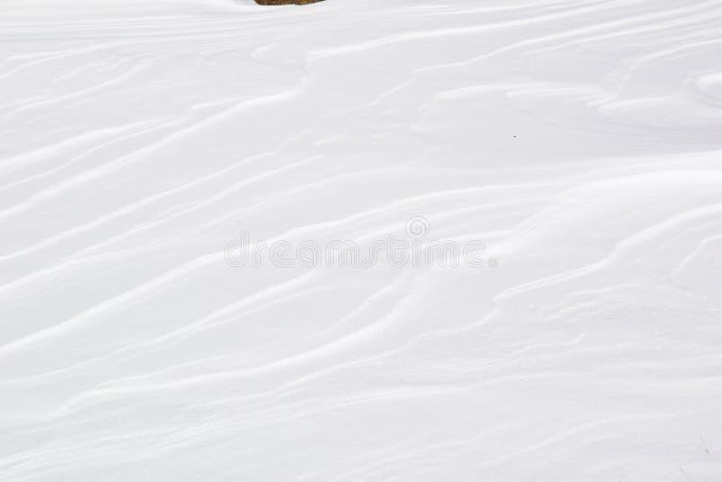 vista degli strati di neve fotografia stock libera da diritti