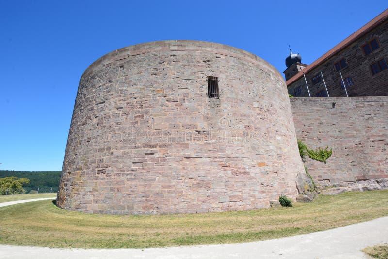 Vista del †di Kulmbach, Germania «sulla fortezza di PLASSENBURG vicino a KULMBACH, Baviera, regione Franconia superiore, German fotografia stock