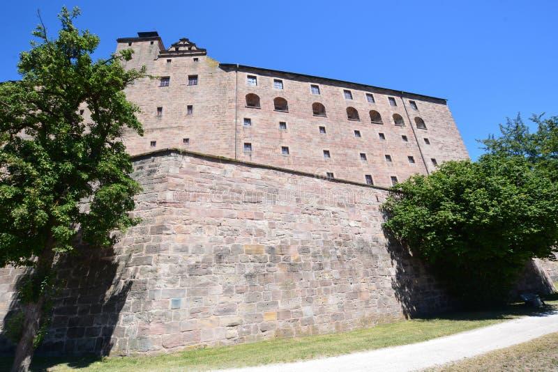 Vista del †di Kulmbach, Germania «sulla fortezza di PLASSENBURG vicino a KULMBACH, Baviera, regione Franconia superiore, German immagine stock