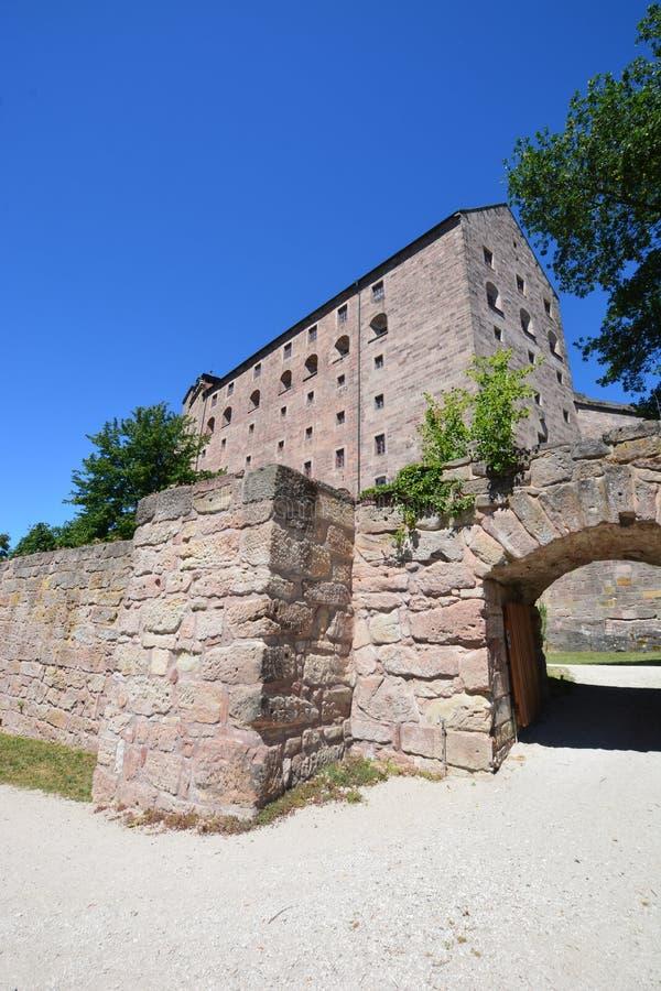 Vista del †di Kulmbach, Germania «sulla fortezza di PLASSENBURG vicino a KULMBACH, Baviera, regione Franconia superiore, German fotografia stock libera da diritti