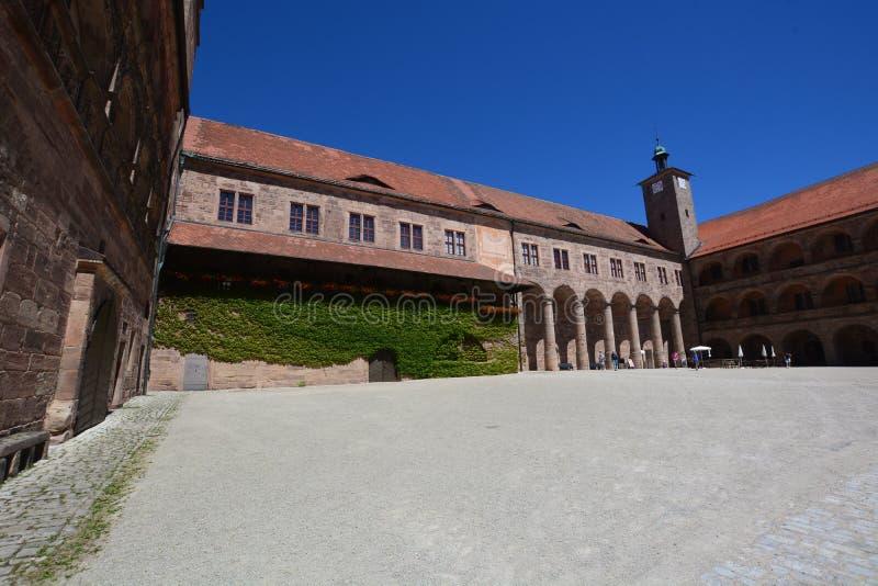 Vista del †di Kulmbach, Germania «sulla fortezza di PLASSENBURG vicino a KULMBACH, Baviera, regione Franconia superiore, German immagini stock libere da diritti