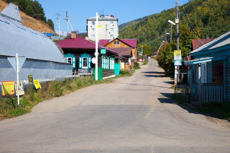 Vista del acuerdo el lago Baikal, Rusia de Listvyanka foto de archivo libre de regalías