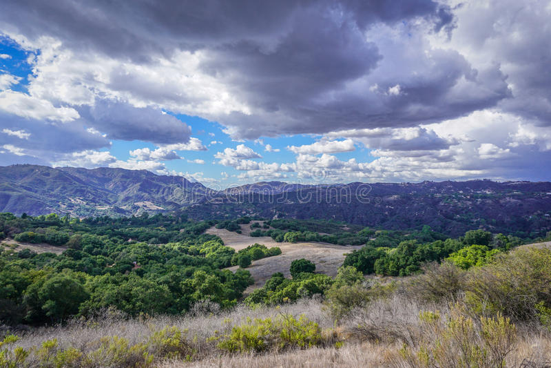 Vista del barranco de Topanga fotografía de archivo