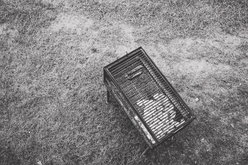 Vista del birdseye del barbecue fotografie stock