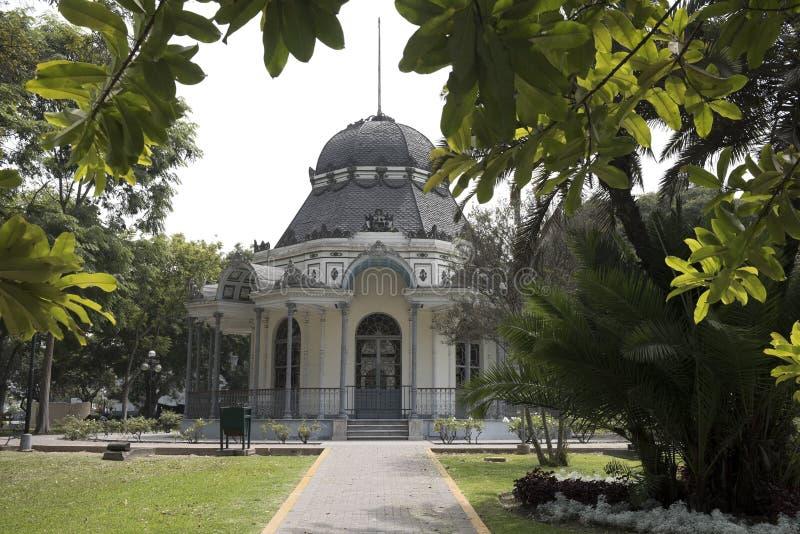 Vista del bizantine cl?sico construida en el parque de la exposici?n, Lima, Per? fotografía de archivo libre de regalías