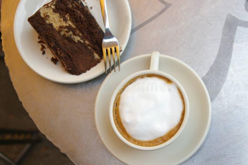Vista del caffè fotografia stock libera da diritti