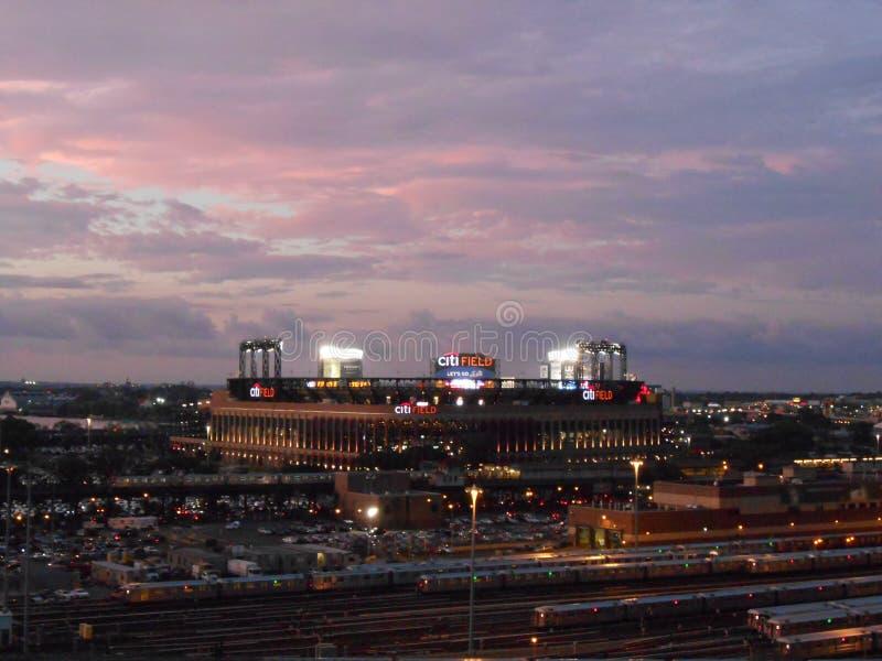 Vista del campo di Citi da Arthur Ashe Stadium fotografia stock libera da diritti