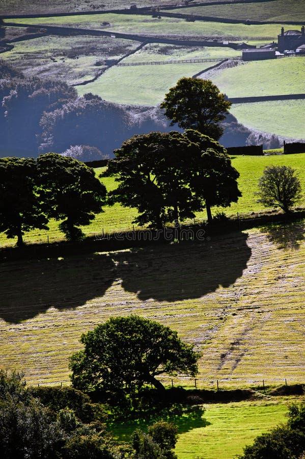 Vista del campo inglés imagen de archivo
