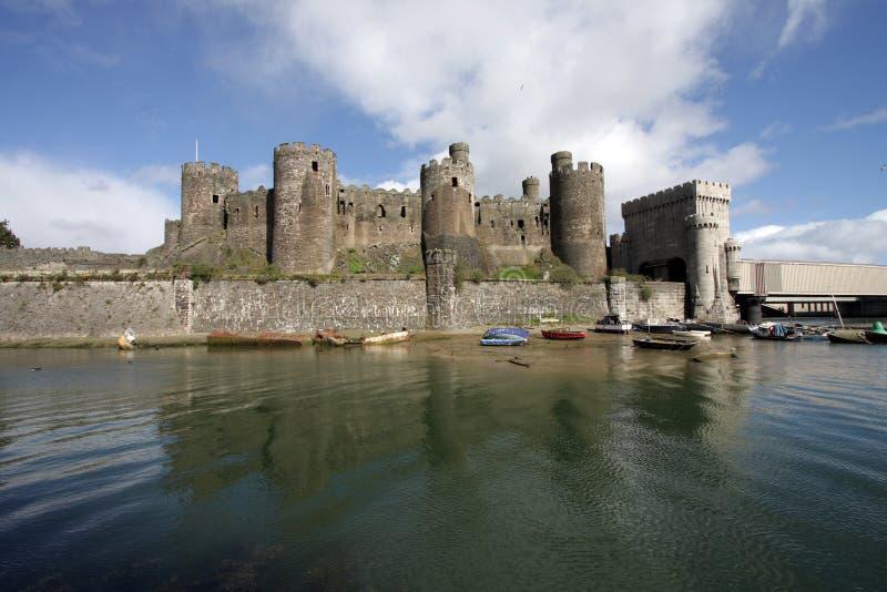 Vista del castello di Conwy fotografie stock libere da diritti