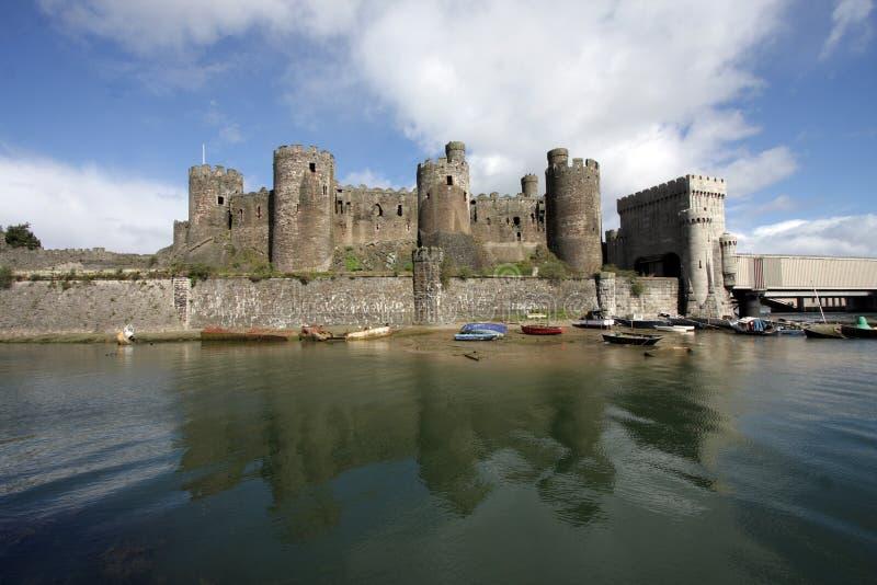 Vista del castello di Conwy immagini stock libere da diritti