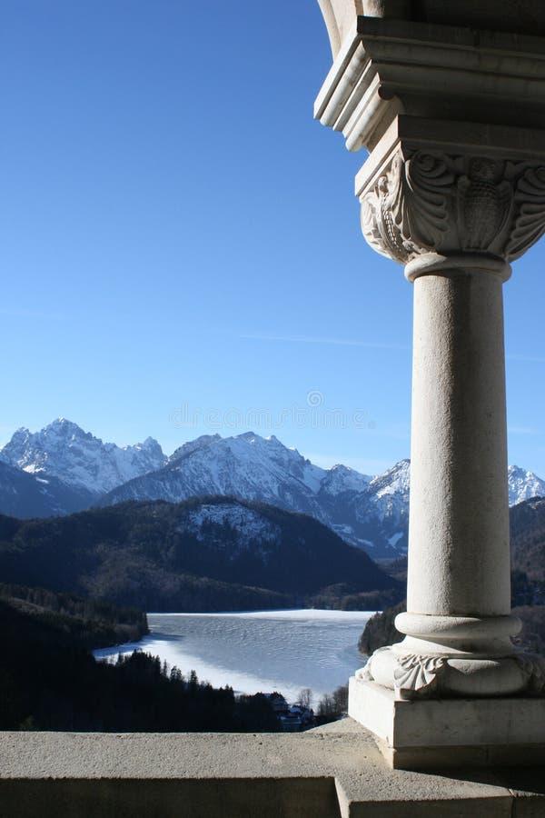 Vista del castello di Neuschwanstein immagine stock