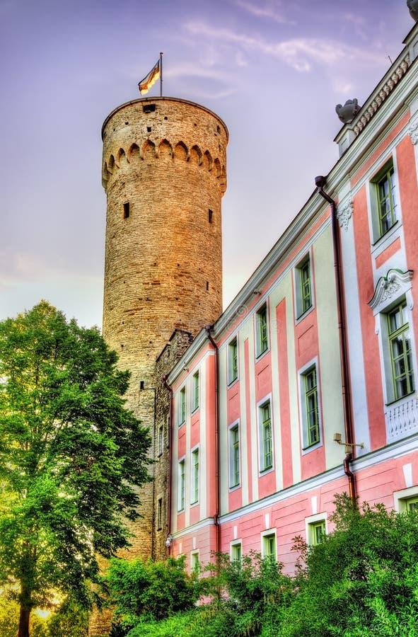 Vista del castello di Toompea a Tallinn fotografie stock