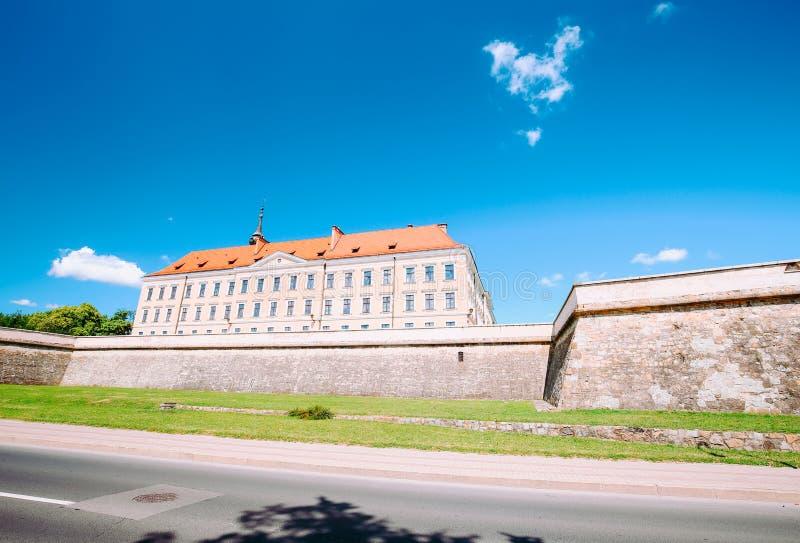 Vista del castello Rzeszow/Polonia fotografie stock libere da diritti
