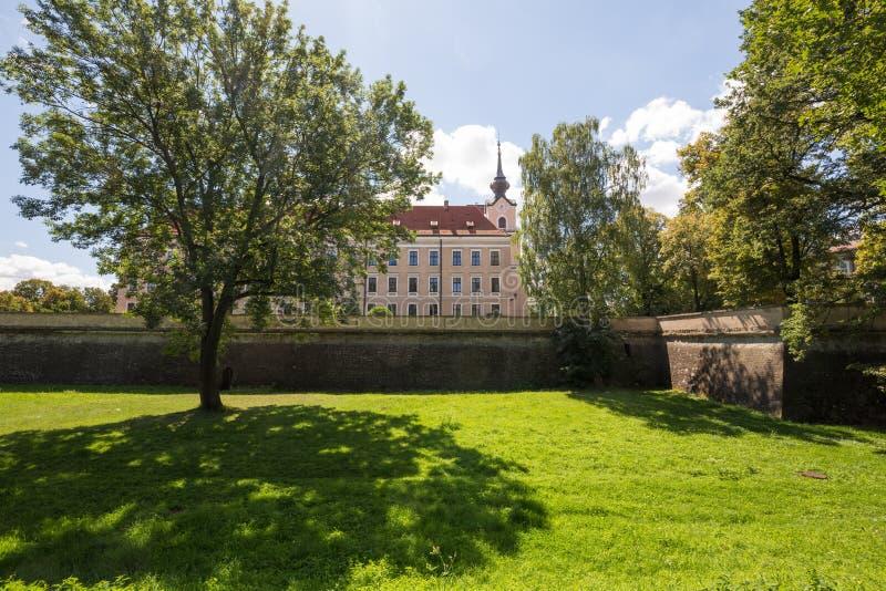 Vista del castello Rzeszow/Polonia fotografia stock