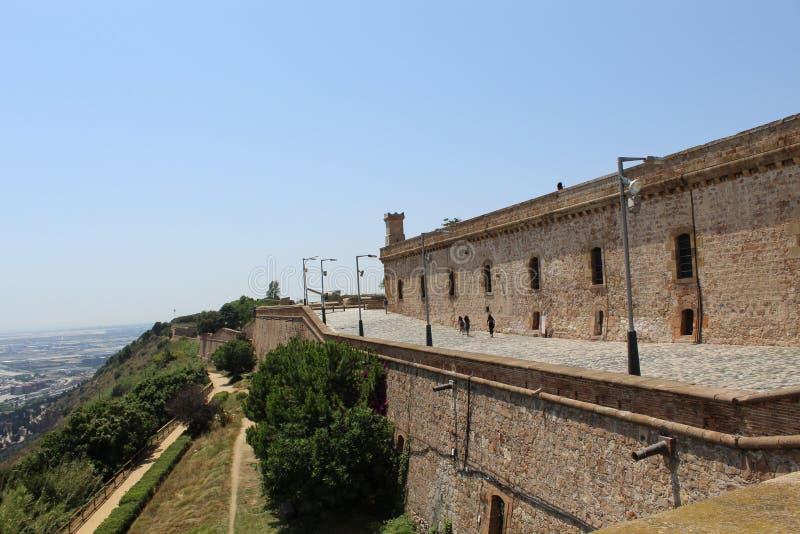 Vista del castillo de Barcelona España fotos de archivo