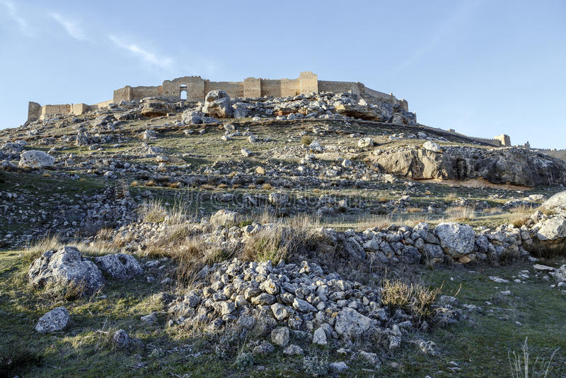 Vista del castillo de Gormaz en Soria, España fotografía de archivo libre de regalías