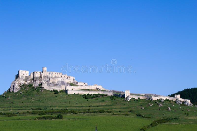 Vista del castillo de Spis, Eslovaquia foto de archivo