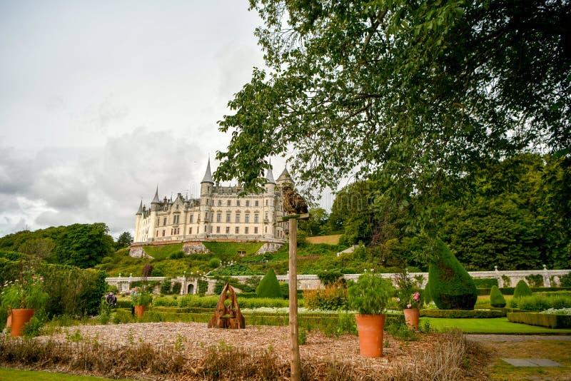 Vista del castillo Escocia Reino Unido de Dunrobin fotografía de archivo