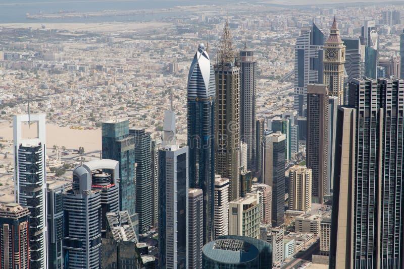 Vista del centro commerciale del Dubai fotografia stock libera da diritti