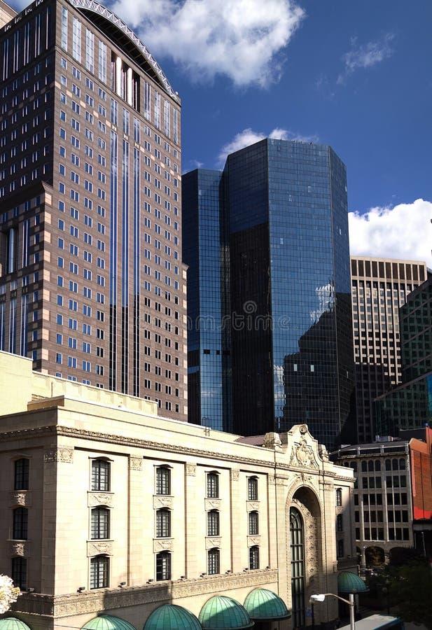 Vista del centro de ciudad de Pittsburgh fotos de archivo libres de regalías