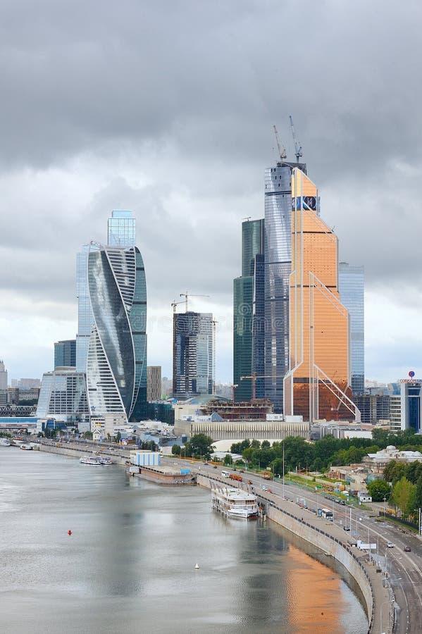 Vista del centro de negocios internacional 'ciudad de Moscú ' foto de archivo libre de regalías