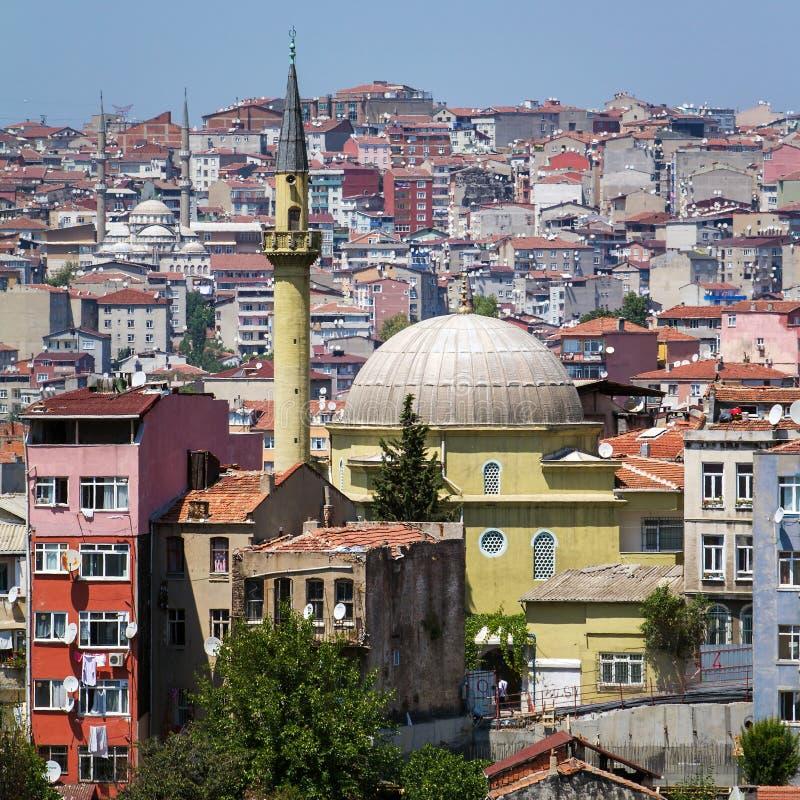 Vista del centro della città di Costantinopoli immagini stock libere da diritti