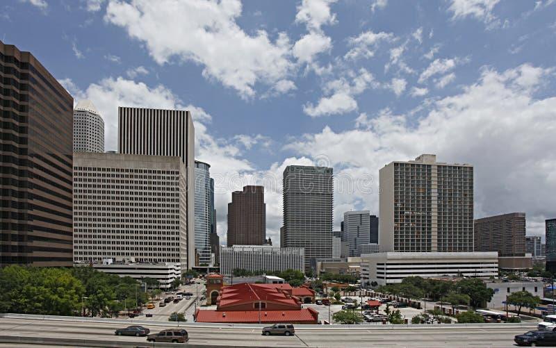 Vista del centro di Houston dal sud fotografie stock